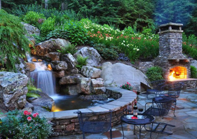 backyard-waterfall-waterfall-lighting-greenleaf-services-inc